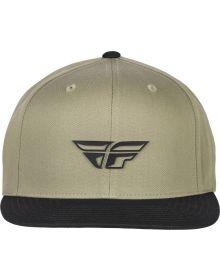 Fly Racing Weekender Snapback Youth Hat Khaki/Black
