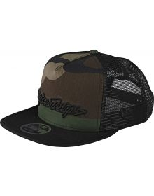 Troy Lee Designs Signature Youth Snapback Hat Army Camo