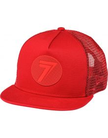 Seven Dot Youth Snapback Hat Red/Red