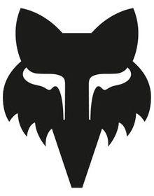 Fox Racing Legacy Head 3 Inch Sticker Black