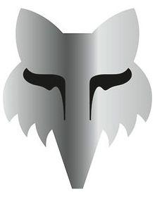 Fox Racing Legacy Head 3 Inch Sticker Chrome