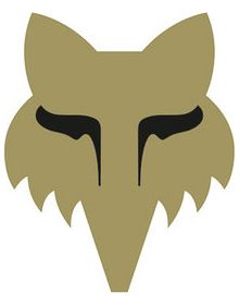 Fox Racing Legacy Head 3 Inch Sticker Gold