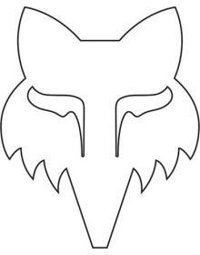 Fox Racing Legacy Head TDC 5.5 Inch Sticker White