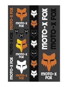 Fox Racing Heritage Track Pack Stickers Black/White/Orange