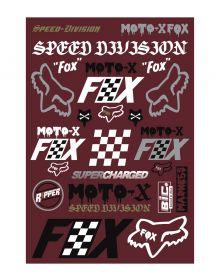 Fox Racing Czar Track Pack Stickers Cardinal