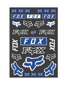 Fox Racing Track Pack Decals Blue
