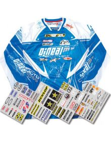 Factory Effex Iron On Jersey ID Kit Sponsors