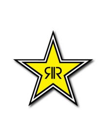 Factory Effex Rockstar Star Die Cut Yellow 12 inch