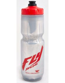 Fly Racing Elite 23oz Insulated Water Bottle Silver/Red