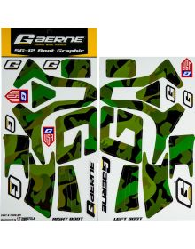 Gaerne SG12 Boot Wrap Decal Graphics Kit Army Camo