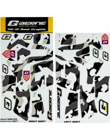 Gaerne SG12 Boot Wrap Decal Graphics Kit Ghost Camo