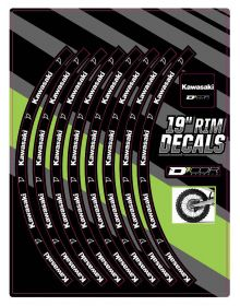 D'Cor Visuals Kawasaki Rear 19 In Rim Decal