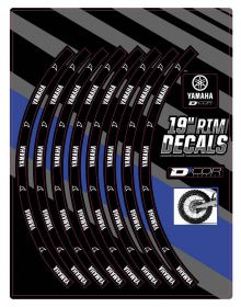 D'Cor Visuals Yamaha Rear 19 In Rim Decal