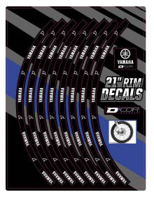 D'Cor Visuals Yamaha Front 21 In Rim Decal
