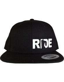 Ride Minnesota Sleek Snapback Cap Black