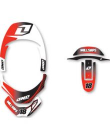 One Industries Leatt Decal Red