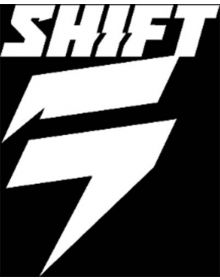 Shift Racing Corp Diecut 4in Decal White