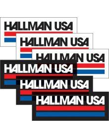 Thor Hallman Decal USA 6 Pack