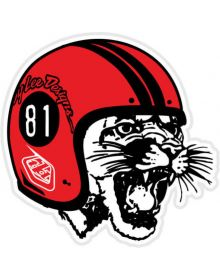 Troy Lee Designs Mad Kitty Sticker Decal Red/Blk 3in x 3in