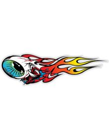 Troy Lee Designs Flaming Eyeball Left Sticker Decal Red/Yellow 4in x 1.2in