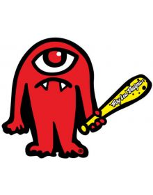 Troy Lee Designs Cyclops Sticker Decal Red 3.4in x 2.75in