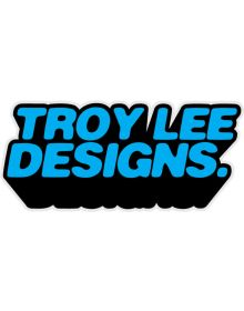 Troy Lee Designs Massive Come Up Sticker Decal Cyan 3.5in x 1.5in