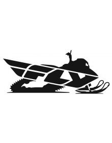 Fly Racing Primary Snow Decal 8 inch Black