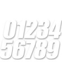 D'Cor Visuals 4 Inch Numbers White - 3 Pack