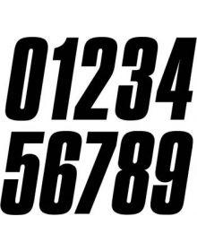 Zero Nine 8 Inch Slant Numbers Black