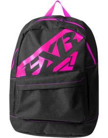 FXR Holeshot Backpack Black Charcoal/Fuchsia