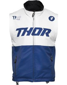 Thor 2021 Warm Up Vest Navy/White