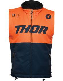 Thor 2021 Warm Up Vest Midnight/Orange