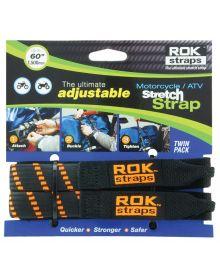 Rok Straps Heavy Duty Adjustable Straps 60 Inch Orange