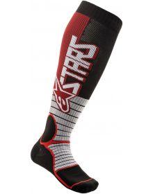 Alpinestars MX Pro Socks Burgundy/Black