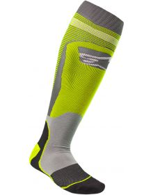 Alpinestars MX Plus-1 Socks Yellow/Gray