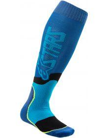 Alpinestars MX Plus-2 Socks Blue/Cyan