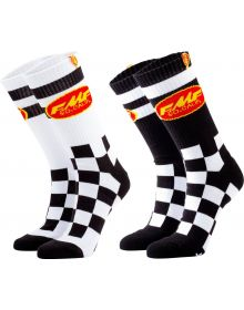 FMF Checker Socks Black/White 2-Pack