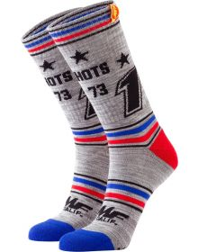 FMF Holeshots Socks Gunmetal Heather