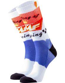FMF King of Racing Socks White/Blue