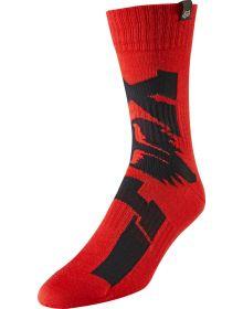 Fox Racing 2019 MX Youth Sock Cota Red