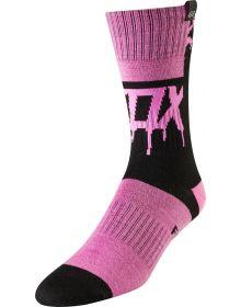 Fox Racing 2019 MX Youth Girls Sock Mata Drip Black/Pink