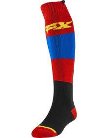 Fox Racing Fri Thin Linc Sock Blue/Red