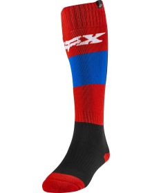 Fox Racing Linc Womens Sock Blue/Red