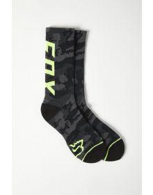 Fox Racing Camo Cushioned Crew Socks Black Camo