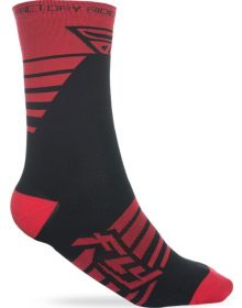 Fly Racing  Casual Factory Socks Red/Black