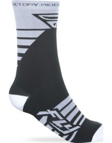 Fly Racing  Casual Factory Socks White/Black