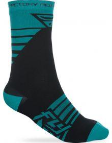 Fly Racing  Casual Factory Socks Teal/Black