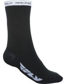 Fly Racing  Casual Crew Socks Black/White