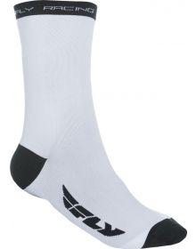 Fly Racing  Casual Crew Socks White/Black