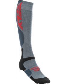 Fly Racing  MX Pro Thick Socks Grey/Black